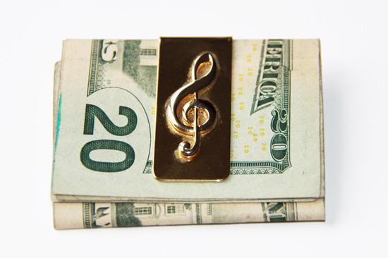 Chopin Treble Clef Music Note Money Clip